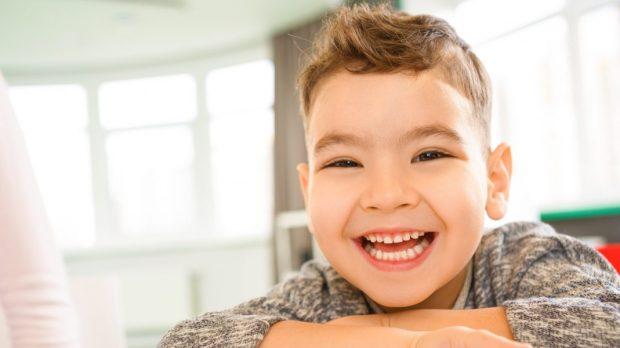 Little boy lauging