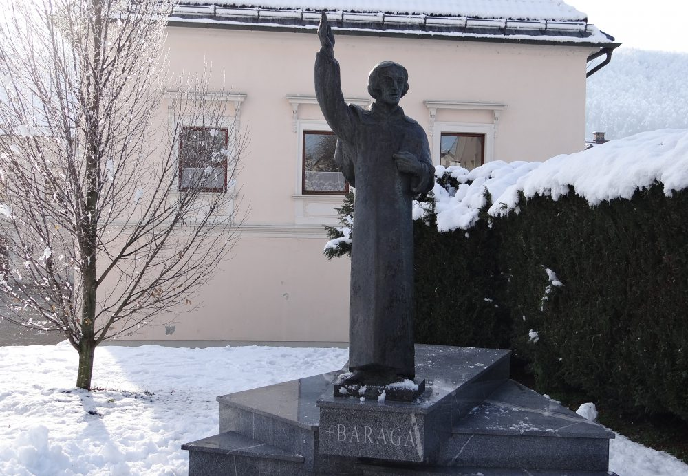 Statue of misionary Baraga in Trebnje, Slovenia