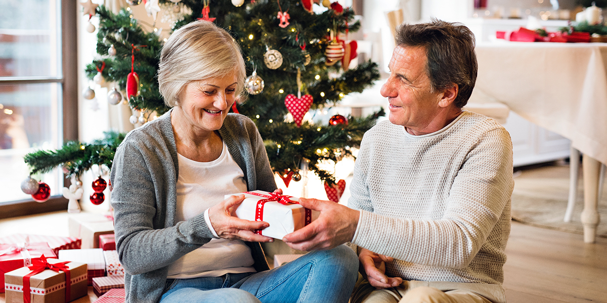 Elder Couple Christmas