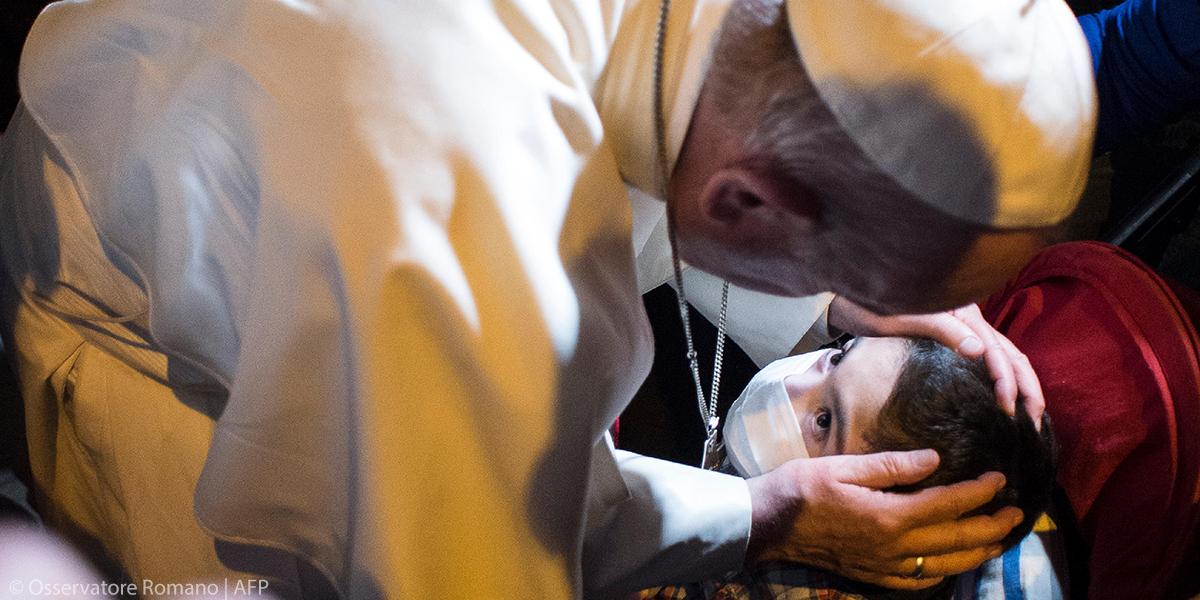 POPE FRANCIS,CHILD,PERU