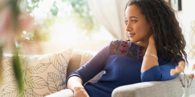 WOMAN,HOME,COUCH