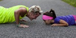 PUSH UPS MUM DAUGHTER