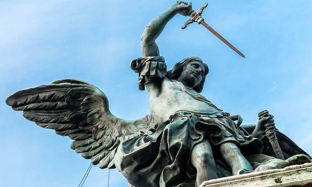 Bronze statue of Archangel Michael