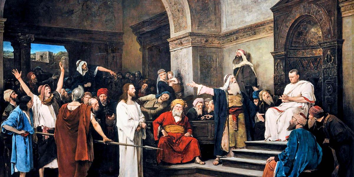 CHRIST,CROWD,PILATE