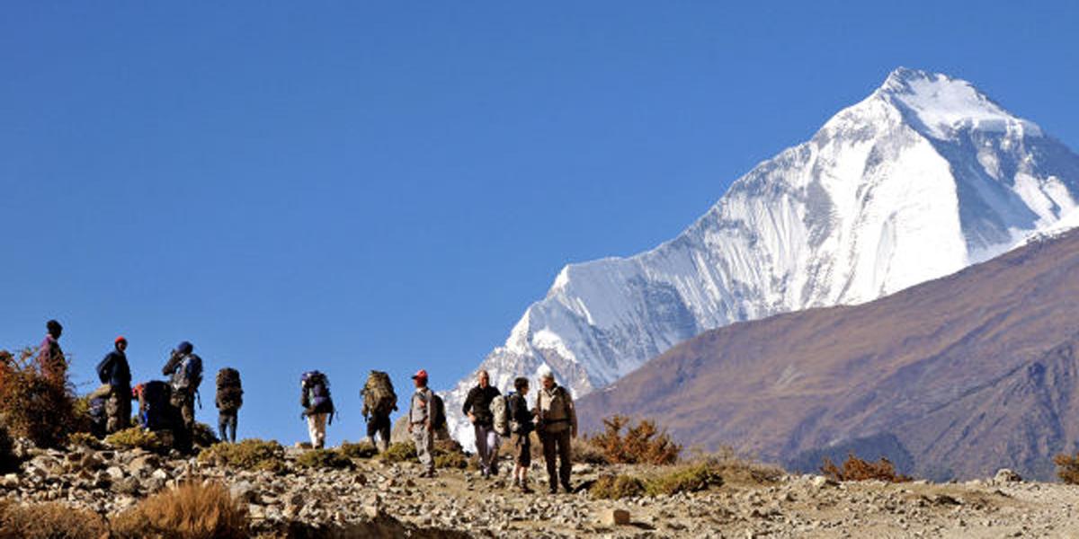 MEN,HIKING,NEPAL,MOUNTAIN