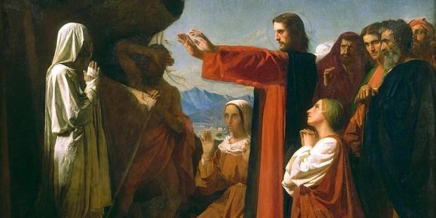 JESUS,RAISES,LAZARUS,FROM THE DEAD
