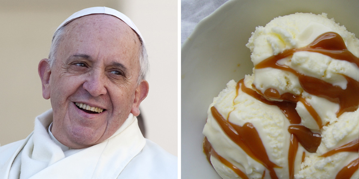 POPE FRANCIS AND ICE CREAM