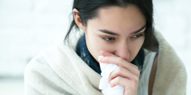 WOMAN,SICK,FLU