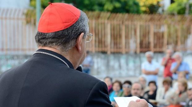 Cardinal Sepe during a religious ceremony