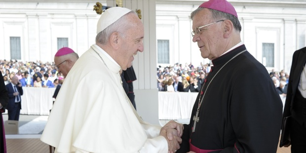 POPE FRANCIS AND BISHOP LIPOVSEK