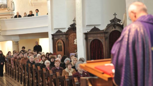 priest at mass