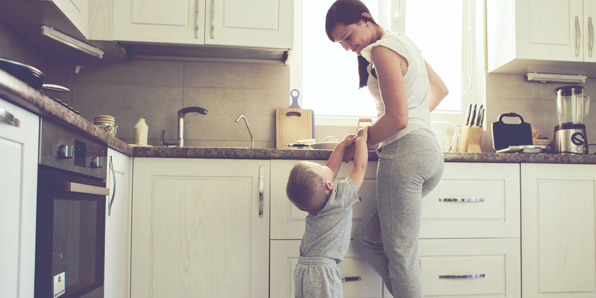 MOM,SON,KITCHEN