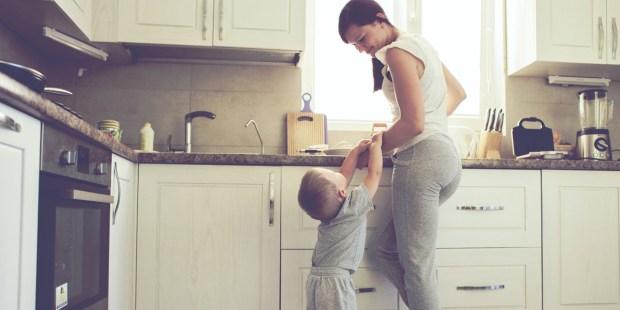 MOM,SON,KITCHEN