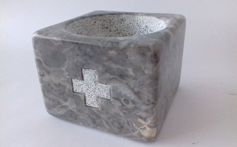 basin of holy water