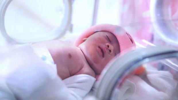 NEWBORN, GIRL, HOSPITAL