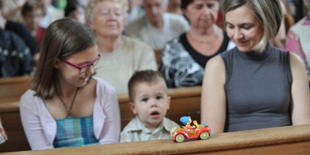 CHILD AT CHURCH