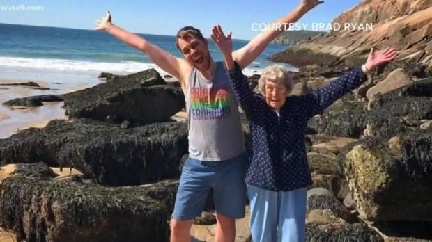 Brad Ryan and grandmother