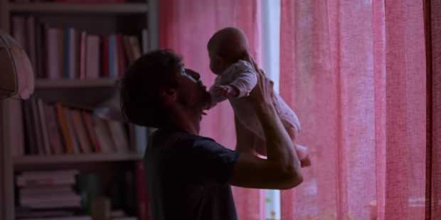 DAD WITH THE BABY