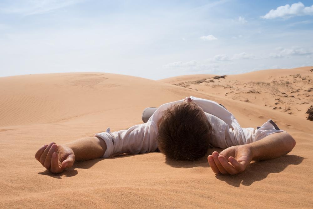 MAN, DESERT, ALONE