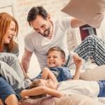 Happy - Family - Bed - Play