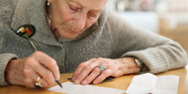 OLD WOMAN, WRITING