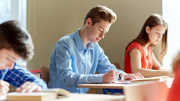 BOY, SCHOOL, WRITE