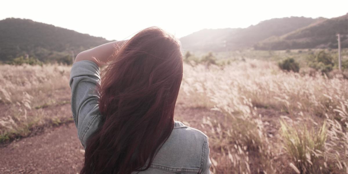 GIRL, SUNSET,