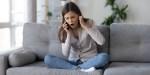 Woman, Home, Phone, Complain, Talk