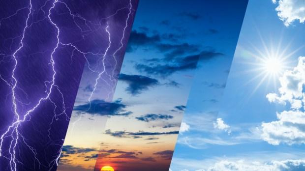 Weather forecast; Sun; Rain;