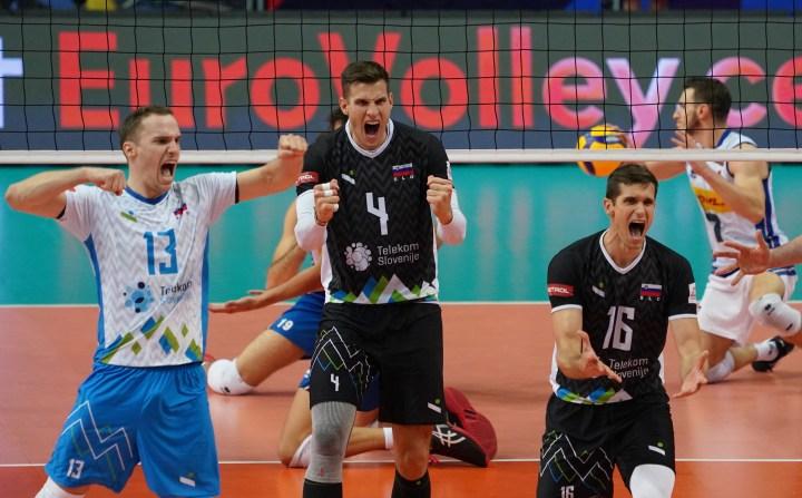 Finale slovenske odbojkarske reprezentance na evropskem prvenstvu